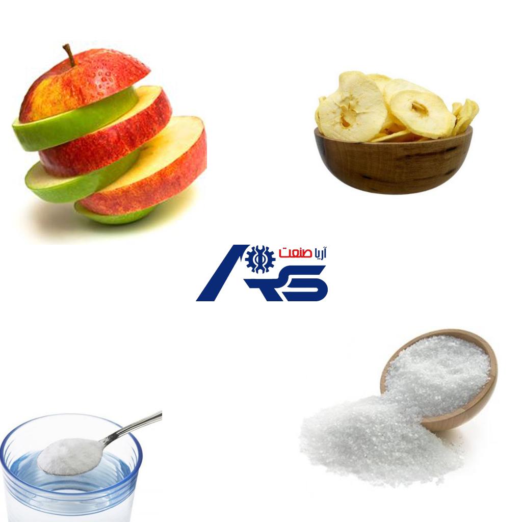 خشک کردن میوه با شکر
